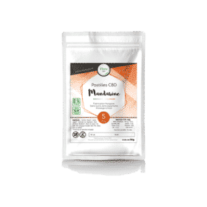 Huile Pastilles mandarine 5 mg CBD - Flora CBD