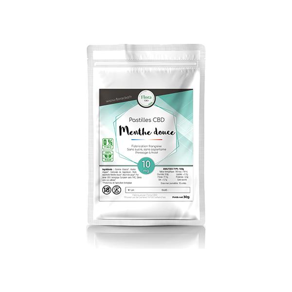 Huile de CBD - Pastilles menthe douce 5 mg CBD - Flora CBD