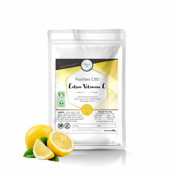 Pastilles CBD 10mg Citron - Flora CBD