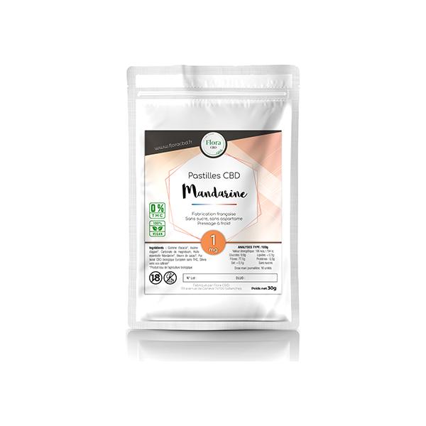 Huile de CBD - Pastilles mandarine 1 mg - Flora CBD
